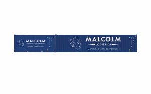 Hornby OO R6999 Malcolm Logistics, Container Pack, 1 x 40' and 1 x 20' Containers - Era 11