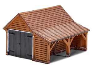 Hornby OO R7271 Modern Timber Garage