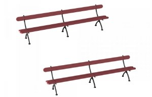 Hornby OO R8674 Bench x2