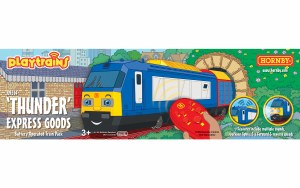 Hornby Playtrains OO R9314 Thunder Express Goods Battery Operated Train Pack