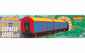 Hornby Playtrains OO R9316 Express Goods 2 x Closed Wagon Pack