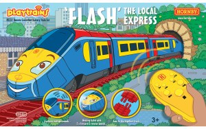 Hornby Playtrains OO R9332 Flash The Local Express Remote Controlled Battery Train Set