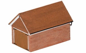 Hornby OO R9826 Detached Brick Garage