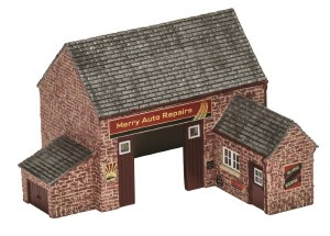 Hornby OO R9855 Country Garage 'Merry Auto Repairs'