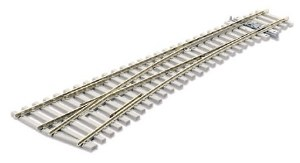Peco OO SL-E1096 Code 75 Electrofrog Medium Radius Turnout Left Hand with Concrete Sleepers