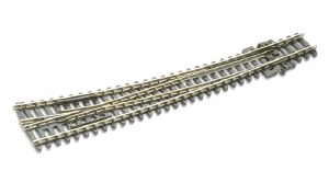 Peco N SL-E386 Electrofrog Curved double radius R/H