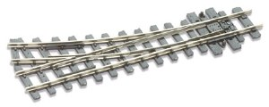 Peco OO9 SL-E491 304mm 12in Radius Right Hand Turnout Nickel Silver Rail
