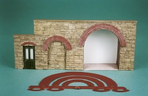 Wills Kits OO SS55 Brick Arch Overlays for doorways windows etc.