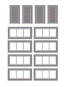 Wills Kits OO SSM314 Doors and Windows Detail Pack