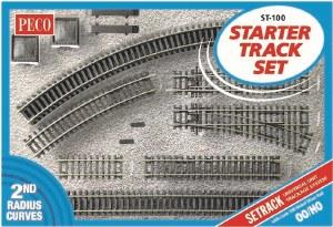 Peco OO ST-100 Setrack OO/HO Starter Track Set 2nd Radius