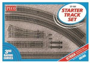 Peco OO ST-101 Setrack OO Starter Track Set 3rd Radius