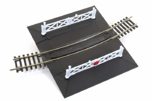 Peco OO ST-267 Curved No.4 Rad. Level Crossing complete with 2 ramps and 4 gates