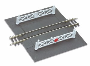 Peco OO ST-268 Straight Level Crossing complete with 2 ramps and 4 gates