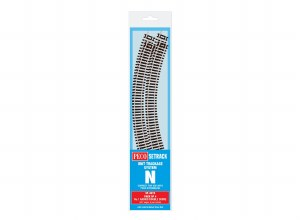 Peco N ST-3012 Double Curve, 1st Radius (Pack of 4)