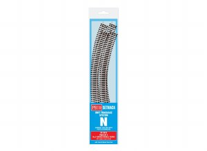 Peco N ST-3015 Double Curve, 2nd Radius (Pack of 4)