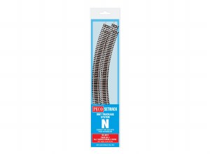 Peco N ST-3017 Double Curve, 3rd Radius (Pack of 4)