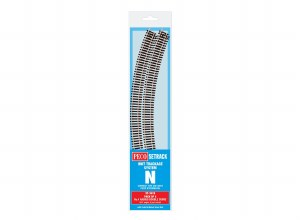 Peco N ST-3019 Double Curve, 4th Radius (Pack of 4)