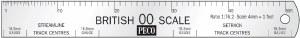 Peco OO SL-20 OO Scale Rule