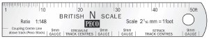 Peco N SL-320 N Scale Rule