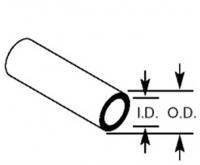 Plastruct Other 90604 Round Tubing TBFS-4 O.D:3.2mm I.D:1.9mm Wall:0.6mm Length:375mm (Pack of 10)