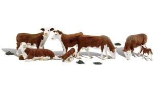 Woodland Scenics OO WA1843 Hereford Cows (HO Scale)