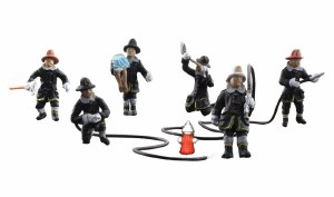 Woodland Scenics OO WA1961 Rescue  Firefighters (HO Scale)