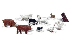 Woodland Scenics N WA2202 Barnyard Animals