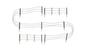Woodland Scenics N WA2990 Barbed Wire Fence