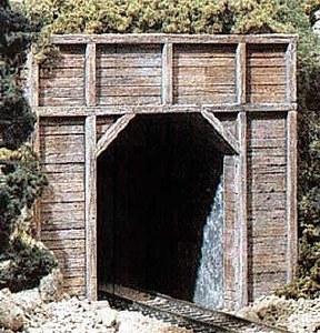 Woodland Scenics N WC1154 N Timber Single Tunnel Portal (x2)