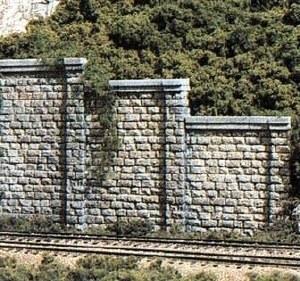 Woodland Scenics N WC1159 N Cut Stone Retaining Wall Concrete (x6)