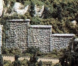 Woodland Scenics N WC1161 N Random Stone Retaining Wall Concrete (x6)