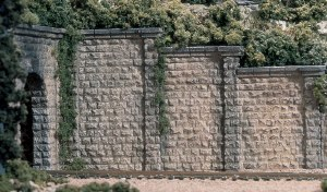 Woodland Scenics OO WC1259 HO Scale Retain Wall Cut Stone l (x3)