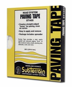 Woodland Scenics Other WST1455 Paving Tape 1/4 inch x 30ft