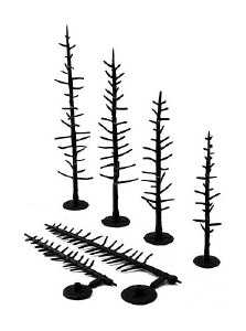 "Woodland Scenics Other WTR1124 Tree Armatures Pine Trees 2.5"" to 4"""