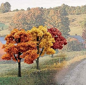 """Woodland Scenics Other WTR1577 3""""-5"""" Ready Made Fall Colours Deciduous Value Pack (14/Pk)"""