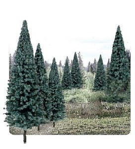 "Woodland Scenics Other WTR1588 4""-6"" Ready Made Blue Spruce Value Pack (13/Pk)"