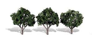 Woodland Scenics Other WTR3508 3 Cool Shade Trees Dark 3 - 4in 8-10cm