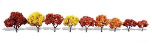Woodland Scenics Other WTR3540 9 Harvest Blaze Trees Fall 1.25-3in 3-8cm