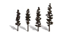 Woodland Scenics Other WTR3561 4 Standing TimberTrees Conifer 4-6in 10.16-15.24cm