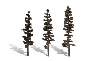 Woodland Scenics Other WTR3562 3 Standing Timber Trees Conifer 6-7in 15-18cm