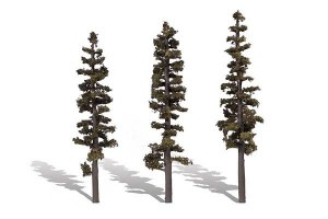 Woodland Scenics Other WTR3563 3 Standing Timber Trees Conifer 7-8in 18-20cm