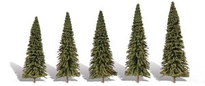 Woodland Scenics Other WTR3565 5 Forever Green Trees Fir 2-3.5in 5-8.8cm