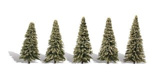 Woodland Scenics Other WTR3566 5 Blue Needle Trees Spruce 2-3.5in 5-9cm