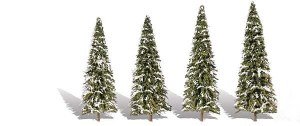 Woodland Scenics Other WTR3567 5 Snow Dusted Trees Snow Fir 2-3.5in 5-9cm