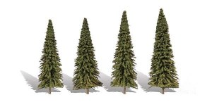Woodland Scenics Other WTR3568 4 Forever Green Trees Fir 3.5-5.5in 9-14cm