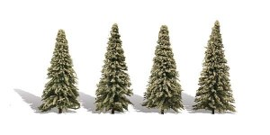 Woodland Scenics Other WTR3569 4 Blue Needle Trees Spruce 3.5-5.5in 9-14cm