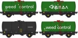 Chipmans Weedkiller tanks (4x wagon pack) (CC48115+CC48116+CC48117xCC48120)