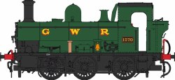 Class 1366 0-6-0PT 1370 GWR Green with GWR lettering