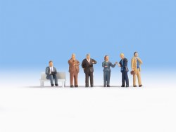 Business People - without Bench (6) (HO Scale)
