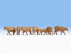 Brown Cows, 7 Figure Set
